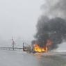 Na M-17 kod Žepča izgorio automobil