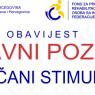 Javni poziv za dodjelu novčanog stimulansa za novo zapošljavanje osoba sa invaliditetom za 2020 godinu