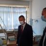 Predsjedavajući Skupštine Huskić i zamjenik premijera Čolaković posjetili Nezira Memčića u Kantonalnoj bolnici Zenica